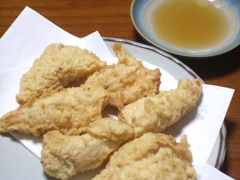 ササミの天ぷら