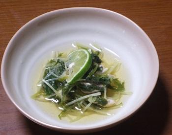 水菜とささみの煮物
