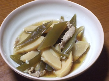 茎ワカメと筍の煮物